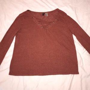 Orange/pink long sleeve top